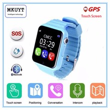 GPS smart watch kids watch V7k with camera/facebook SOS Call Location DevicerTracker for Kid Safe Anti-Lost Monitor PK Q80 Q90(China)