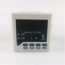 "Free shipping ,72*72mm(2.83""*2.83"") White DC V Meter, 220VAC Power Supply Single Phase Voltage Meter, LED Display type 0-450v"