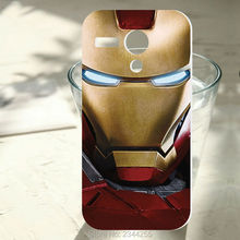 For Motorola Moto G Case New Cover G2 G3 G4 G5 G6 plus Z play X X2 Fashion iron Man Hero hard pc plastic mobile Phone case