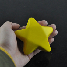 2 Colors Five Star Shaped Hand Wrist Exercise Stress Relief Squeeze Soft Foam Ball for Kids Children Baby Student Toy 1 PC