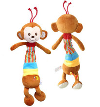 Infant Rattles Baby Hanging Bell Toy monkey Soft Bed Plush Toys Educational Animal Stroller for gift