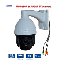 UVEIWN New Arrival 3 inch 960P Weatherproof IP66 1.3MP AHD PTZ Dome Camera 3X Optical Zoom 1.3MP mini Security CCTV Camera(China)