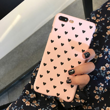 Pink Lover Cute Peach Hearts Phone Cases For iPhone 6 6S Plus 7 Fashion Candy Colors Slim Hard PC Capa Fundas Cover Loves Shell