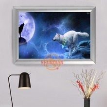 Animal series Wolf Aluminum Alloy Painting Frame Home Decor Custom Canvas Frame Print Picture ,photo H322g116gj(China)