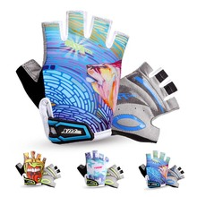 BATFOX Brand Summer Cycling Gloves Half Finger BOYS Breathable Padded Sport Bicycle Bike Gloves Guantes Ciclismo Kids Children