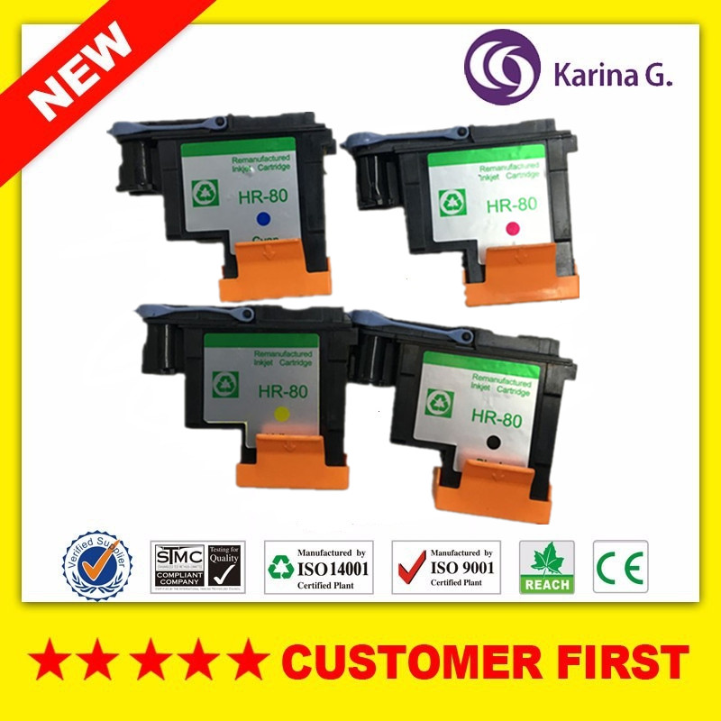 1 Set for HP80 printhead for HP Designjet 1000 1050c 1055 Ink Cartridge Head for HP80 printhead 4 color<br>