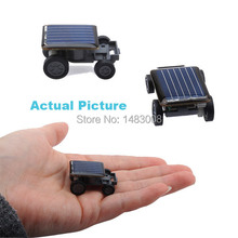 Lovely Solar Power Mini Toy Car Racer The World's Smallest Educational Gadget Children Gift High Quality(China)