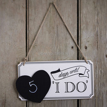 Free Shipping Wooden Wedding Signs I Do Wedding Photo Props Wedding Wood Directional Signs Arrow with Heart Shaped Blackboard