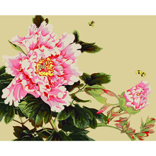 HAOCHU Pastoral Flower Garden Watercolor DIY Digital Coloring By Numbers Acrylic Picture Wall Poster Oil Painting for Home Decor