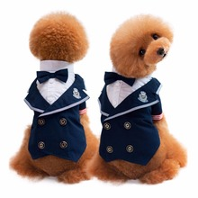 FH20 NEW Pet Dogs Groom Tuxedo Bow tie Wedding Suit Cute Puppy Dog Cats Gentleman Formal Party Costume Apparel Free shipping(China)