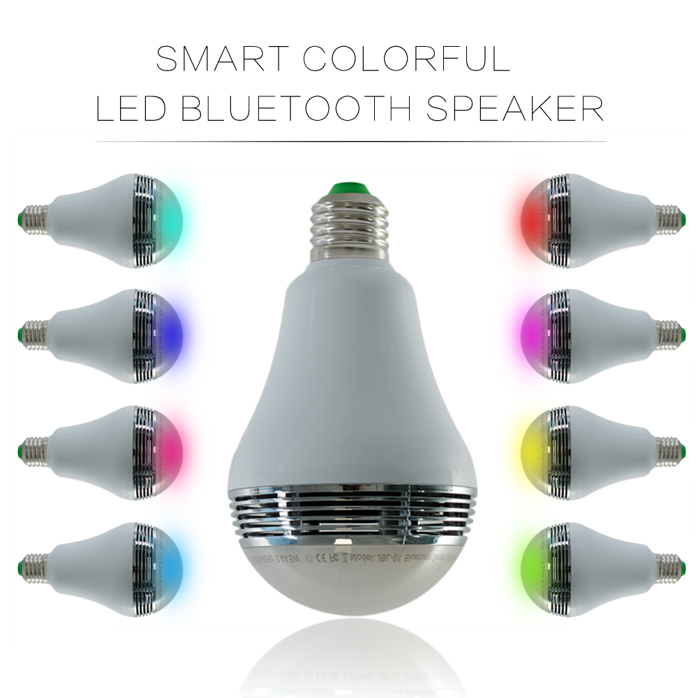 AC85-265V E27 5W RGB Smart Led Bulb Light With Wireless Bluetooth 4.0 Speaker For Music Function Free Shipping<br><br>Aliexpress