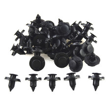 Useful 8mm Rivet Push Clip Black Cars Lined Cover Barbs Christmas Tree Rivet Fasteners Auto Fasteners For Cars(China)