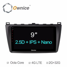 "9"" 2GB RAM+32GB ROM Android 6.0 Octa 8 Core Car DVD Player For Mazda 6 Mazda6 Ruiyi Ultra 2009-2015 GPS Radio Stereo 4G WiFi DAB(China)"