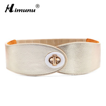 Himunu 2016 Brand Fashion Genuine Leather Women Belt Elastic Hasp Buckle Wide Belts For Women Strap Designer female Cummerbund