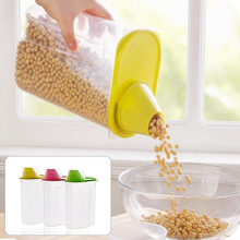 Hot Sale 1.8/2.5L Plastic Dried food Cereal Flour Rice storage Box grain Container Kitchen Organizer Tools