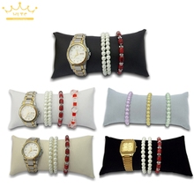 Wholesale Superior Velvet Large Bracelet Display Pillow Ankle Holder Watch Organizer Jewelry Display Stand Free Shipping(China)