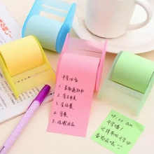 5PC cute stationery Memo Pads Belt adhesive tape holder sticky note Creative notes Self Stick Notes Writing pads