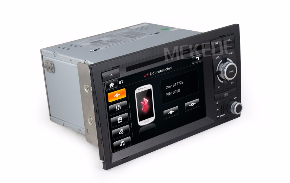 free shipping 2din Car radio GPS Player for A4 2002-2008 S4 with GPS Radio Bluetooth USB Stereo Tape Recorder 1080p video