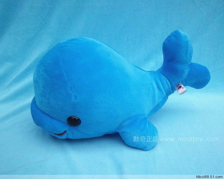 Stuffed animal 42cm blue dolphin plush toy doll high quality gift present w1130<br><br>Aliexpress