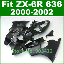 Matte glossy black for Kawasaki Ninja 636 fairing kit 2000 2001 2002 ZX6R fairings 00 01 02 zx600 bodywork parts J7C3
