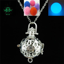 "Free shipping Y20933 In The Dark Fragrance Diffuser Dangle Tassel Locket Necklace 24"" Women Gift"