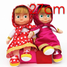New Arrival Russian Masha and Bear plush Dolls Baby Children Best Stuffed & Plush Animals Gift -Style have stock