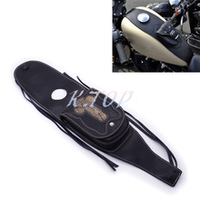 Motorcycle PU Leather 4.5 Gallons Tank Cap Cover Panel Bag For Harley Sportster XL883 1200