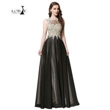 Abendkleider Lange Formal Dresses Womens With Delicate Appliques Keyhole Backless A-line Chiffon Gowns Gold Lace Formal Dress