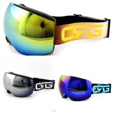 Wholesale 3 Colors Man Woman Ski Goggles Double Anti-Fog Big Ski Mask Glasses Skiing Boy's  Girl's Snow Snowboard Goggles