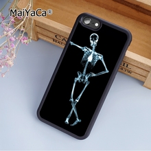 MaiYaCa Casual Skeleton Skull Black soft mobile cell Phone Case Cover For Samsung Galaxy S7 Edge Custom DIY cases(China)