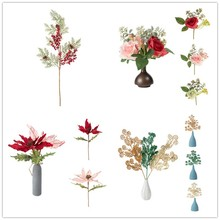 Simulation Artificial Fake Mini Roses Flowers Bush Home Party Christmas Nice Decoration Four Kinds Optional(China)