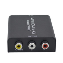 Mini HDMI to AV Converter with scaler Iron box Package convert HDMI digital signal to AV /CVBS composite video signal
