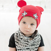 Moeble Baby Kids Autumn Winter Warm Cotton Beanie Hat Toddler Infant Girls Boys Caps Cute Baby Cartoon bear ear Beanies 1pc H760