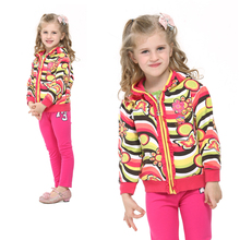 NOVA children clothes hoody hot design girls winter jackets striped allover  zip-up kids coat baby girl fashion winter hoody