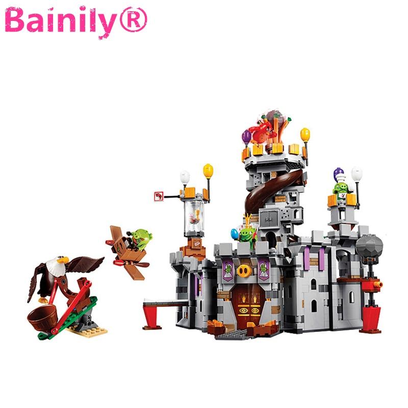 [Bainily]879pcs Birds King Pigs Game Castle Building Blocks Bricks Sets Education Toys for Children <br>
