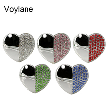 2016 Miniseas Usb Flash Drive Heart Jewelry Crystal Diamond 4GB 8GB 16GB 32GB 64GB Memory USB stick 2.0 Pendrive Pen Drive