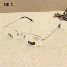 Men's High quality Half metal frame Aspherical resin lenses Reading Glasses male Eyewear 1.0 1.5 2.0 2.5 3.0 3.5 4.0(China)