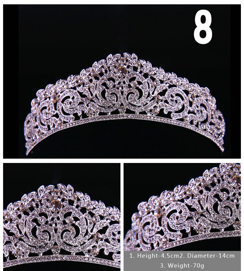 Diverse Silver Crystal Bride tiara Crown Fashion Pearl Queen Wedding Crown Headpiece Wedding Hair Jewelry Accessories Wholesale 4