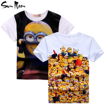 Unisex children t shirts boys girls clothes Despicable Me Minions t-shirt zootopia Nick Wilde baby girl clothing cartoon tops
