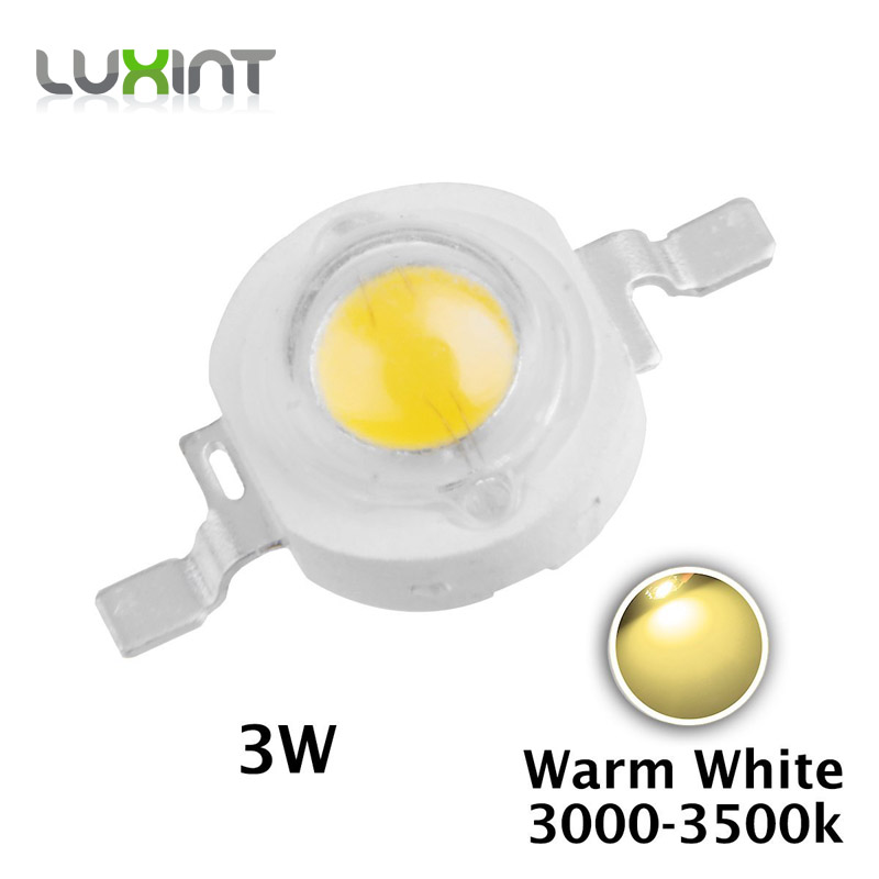 10pcs 2700-3500k 3w warm white led diodes 3W high power led chip light source 120 degree 45mil Epistar chips emitting diode<br><br>Aliexpress
