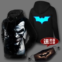 New arrive 2017 men women 3D sweatshirt printed Batman the joker suicide novelty pullover hoodies casual coat(China)