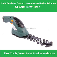 Free Shipping!/ST1205 3.6V Cordless 2in1 Lawn Mower&Hedge Trimmer/Grass Cutter/Sier electic mower&trimmer(China)