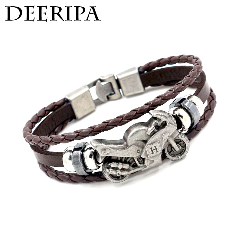 Fashion Tourism Jewelry Men's Women's Hemp Rope Alloy Motorcycle Feather Vintage Leather Bracelet Hemp Rope Woven Casual Bracele 10