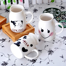 ZELU Creative Ceramic Floating Mugs Cup Cute Milk Cup Fashion Coffee Tea Beer Mug Cup Birthday Christmas Gift Home Decor 8D