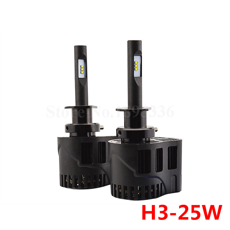 2x P6 H3 50W 6400LM 3000k 4000k 5000k 6000k Car LED ZES Chip Car Styling LED Headlight Waterproof Driving Light Conversion Kit<br><br>Aliexpress