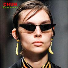 CHUN Gato Olho Óculos De Sol Das Mulheres Designer de Marca Do Vintage  Pequeno Quadro Óculos de Sol Retro Preto Óculos Óculos de. 93a6a3e7b1