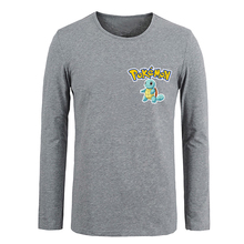 Pokemon Charmander Bulbasaur Squirtle Pokeball men Long Sleeve Tee Tops Family Fans Party Cosplay Tshirts Spring Summer - ShowBest store