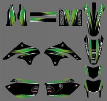 GRAPHICS & BACKGROUNDS DECALS STICKERS Kits For Kawasaki KLX450 2008 2009 2010 2011 2012 KLX 450