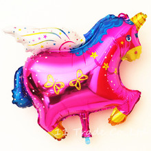1PC Free Shipping Unicorn Balloon Pegasus Horse Foil Balloons Party/Birthday/Wedding Decoration Big Globos Party Fly Horse Pets