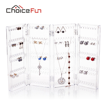 CHOICE FUN 2017 New Arrival Jewelry Display Jewelry Organizer Earring Organizer Acrylic Jewelry Organizer Holder SF-84003(China)